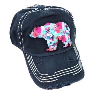Accessories - Floral mama bear hat